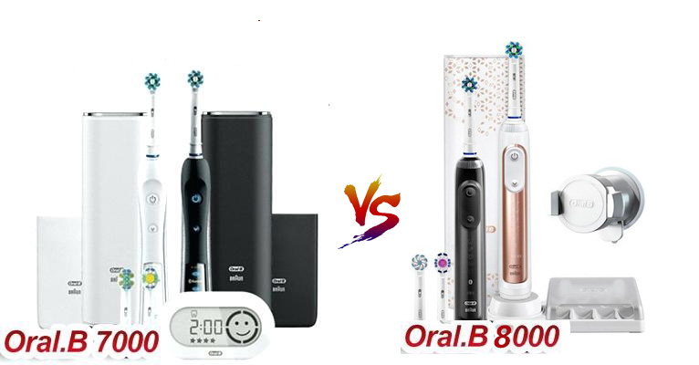 the colors of oral b pro 7000 and 8000
