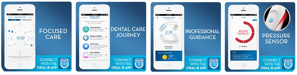 oral b electirc toothbrush connect with the oral b APP