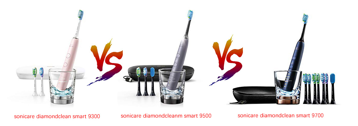sonicare diamondclean smart 9300 vs 9500 vs 9700